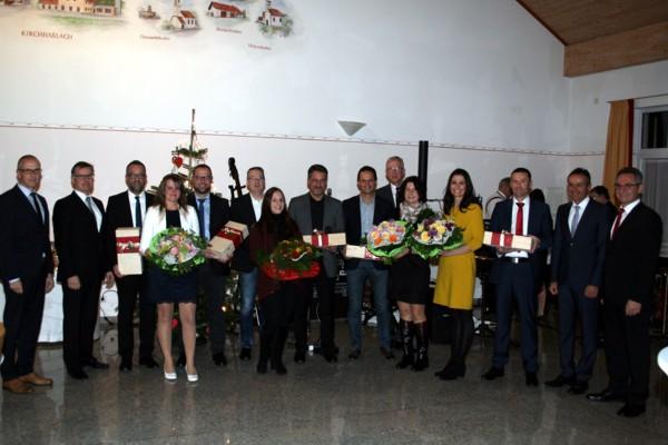 Uwe Köhler (Vorstand), Otto Wengenmayer (Vorstand), Dieter Duchon (10 Jahre), Martina Mayer (10 Jahre), Wolfram Bernhard (10 Jahre), Horst Schairer (25 Jahre), Sandra Weber (10 Jahre), Peter J. Peter (25 Jahre), Dietmar Egle (25 Jahre), Anton Göppel (40 Jahre), Sandra Keller (25 Jahre), Ute Mutzel (25 Jahre), Walter Müller (25 Jahre), Helmut Graf (Vorstandsvorsitzender), Franz-Josef Mayer (Vorstand)