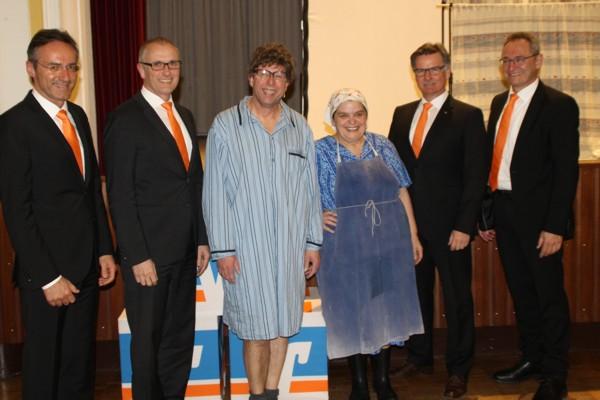 Helmut Graf (Vorstandsvorsitzender), Uwe Köhler (Vorstand), Franz Auber, Hillu Stoll, Otto Wengenmayer (stellv. Vorstands-vorsitzender), Franz-Josef Mayer (Vorstand)